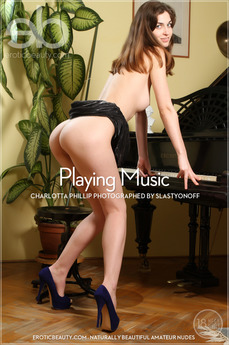Erotic Beauty - Charlotta Phillip - Playing Music by Slastyonoff