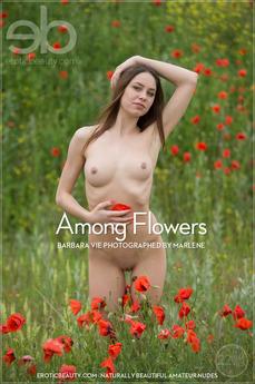 Erotic Beauty - Barbara Vie - Among Flowers by Marlene
