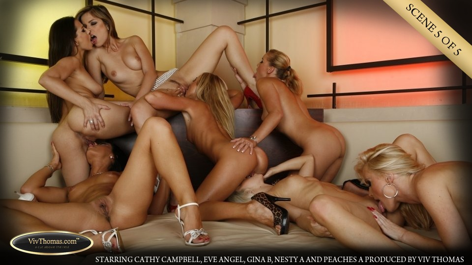 Gina, Peaches, Eve, Nesty, Cathy, Cassye and Dorina