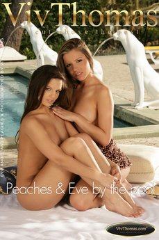 Peaches & Eve by the pool