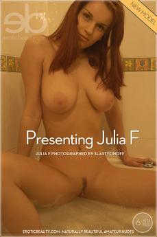 Presenting Julia F